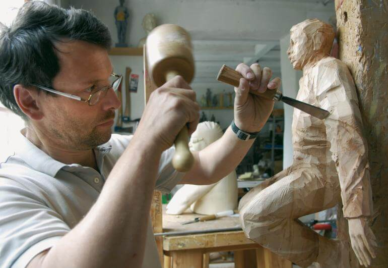 Wood sculptor South Tyrol